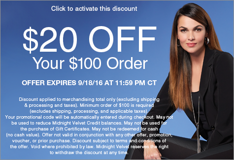 $20 off Your $100 Order