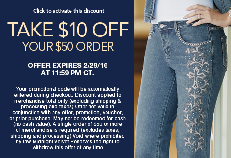 $10 off your $50 order