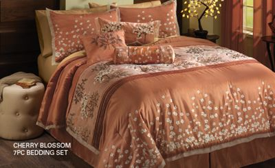 Cherry Blossom 7pc Bedding Set