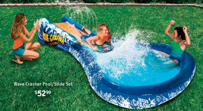 Wave Crasher Pool/Slide Set