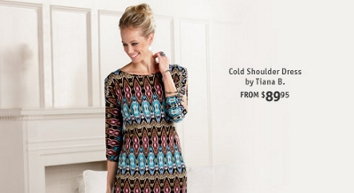 Cold Shoulder Dress by Tiana B.