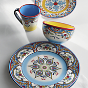 Zanzibar Dinner Plate, Salad Plates, Bowls, Mugs and Serving Bowls