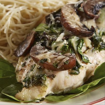 Garlic Herb-Spinach and Mushroom Baked Chicken Breasts