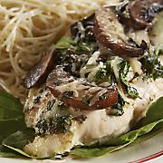 Garlic Herb Spinach and Mushroom Baked Chicken Breasts