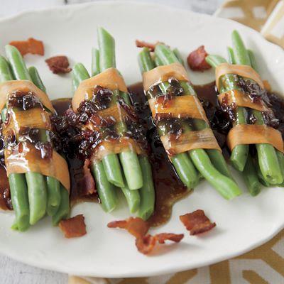 Green Bean Bundles with Bacon Vinaigrette