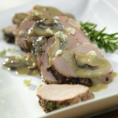 Pork Tenderloin with Wisconsin Blue Cheese Mushroom Sauce
