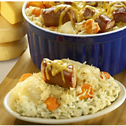 Sauerkraut And Sausage Over Mashed Potatoes