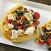 Sausage and Spinach French Bread Pizza with Wisconsin Fresh Mozzarella