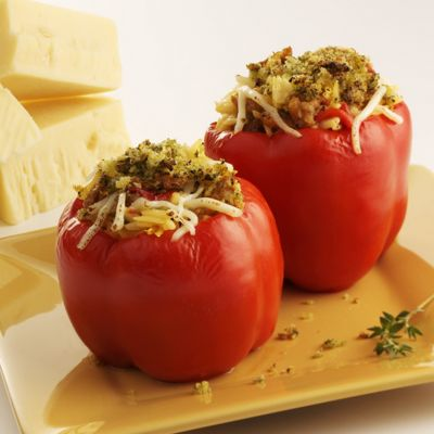 Italian Sausage-Stuffed Peppers with Wisconsin Provolone Cheese