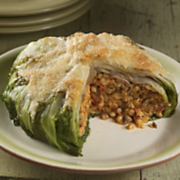 Stuffed Escarole with Fregola and GranQueso Cheese