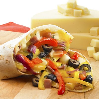 Cheesy Pepper Trattoria Wraps