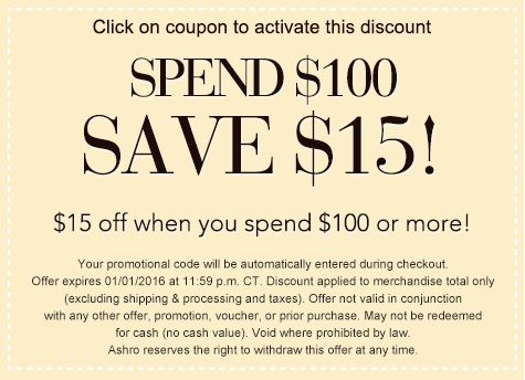 Ashro coupon code