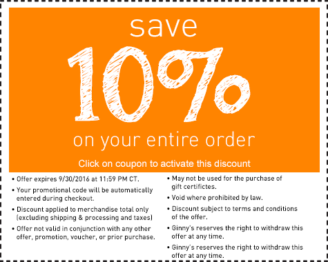 Save 10% on any order.