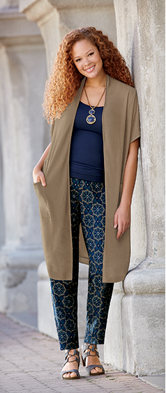 Long and Lean. Trendy toppers to instantly lengthen your line.  - Shop Dusters & Cardigans