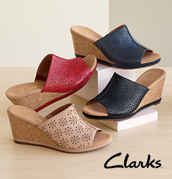 Let It Slide  - For stylish comfort, it's got to be Clarks! Shop Clarks
