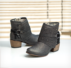 Bootie-licious!  - Kick up your heels in ankle-grazing boots. Shop Booties