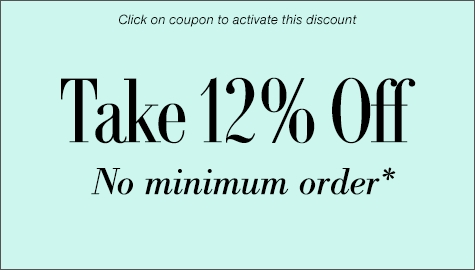 Take 12% off no minimum order