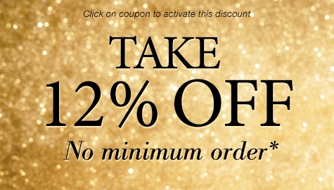 Take 12% off no minimum order