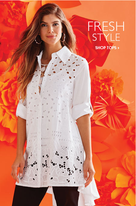 Lily Cutwork Shirt - Fresh Style - Shop Tops