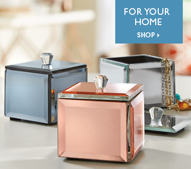 Set of 3 Metallic Trinket Boxes - Shop For Your Home