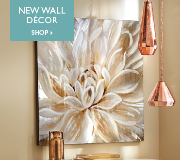 Hand-Painted White Flower on Aluminum - Shop New Wall Décor