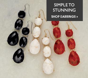 Faux-Stone Earrings - Simple to Stunning - Shop Earrings