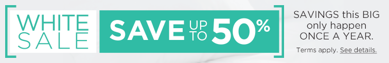 White Sale - Save up to 50%