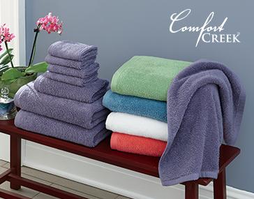 Comfort Creek®8-Piece Chenille Towel Set by Montgomery Ward