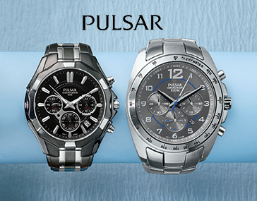 Two Pulsar Men's Chrono Watches, one stainless steel, one two-tone black