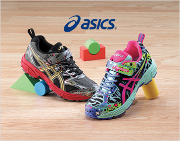 Pre-Turbo athletic shoe by Asics, one of each color