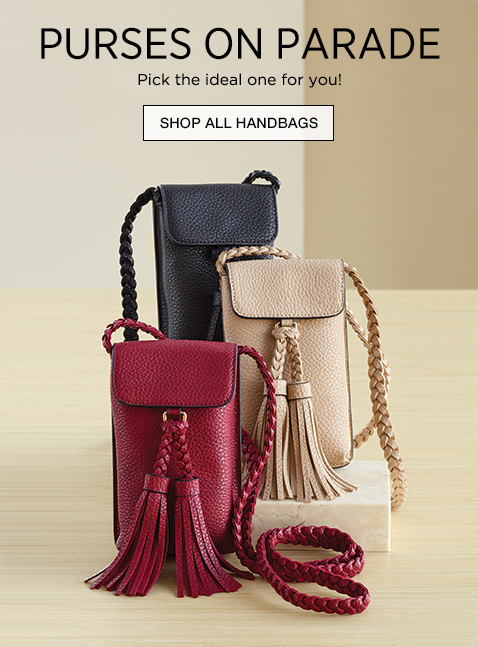Purses on Parade  - Pick the perfect one for you!  - Shop All Handbags