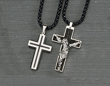 Can we use the shot with both the Double Layer Cross and the Crucifix Pendant