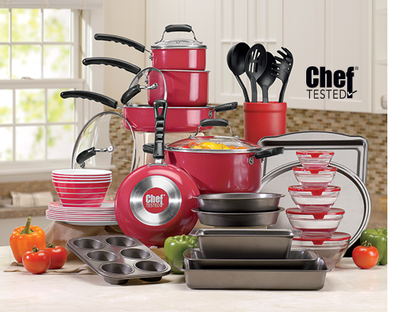 12-pc. Ceramic Cookware Set with $40 REBATE by SilverStone