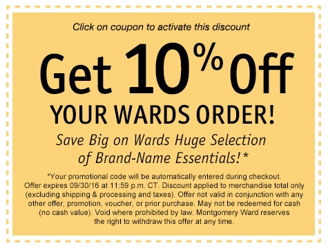 Save 10% of your Wards Order