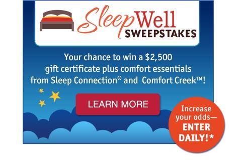 Wards Sleepwell Sweepstakes