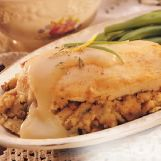 Traditional Stuffed Chicken Breast with Gravy