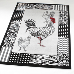 Rooster Grey Rug - Shop Area Rugs