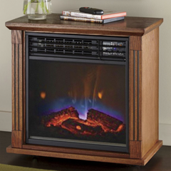 Mobile Fireplace with Infared Quartz - Shop Fireplaces