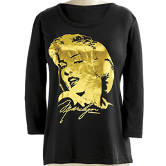 Gold Marilyn Tee - Shop Knit Tops & Tees