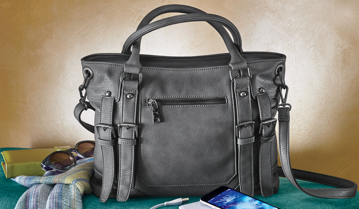 Double Buckle Bag with Phone Charger - Shop Fashion Handbags