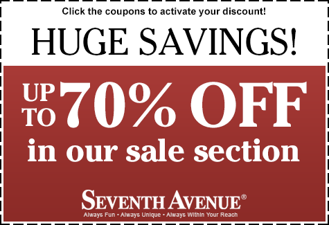 Save up to 70% in our sale section!