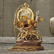 Pocket Watch with Stand Wolf