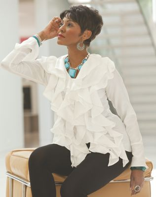 Ruffle Gaynell Blouse