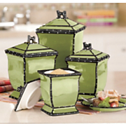 Ruffle 4-Piece Canister Set