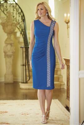 Breyona Dress, Two-Tone Jewelry and Libra Sandal