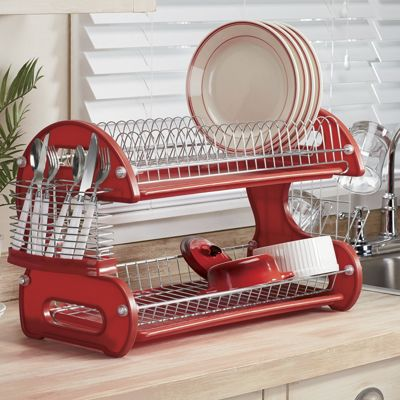 2 tier dish rack from montgomery ward si451923. Black Bedroom Furniture Sets. Home Design Ideas