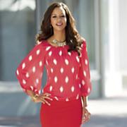 vinny smudge dot blouse