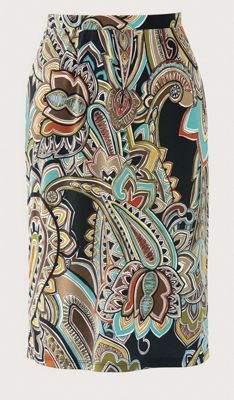 Pretty Paisley Pencil Skirt