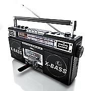 qfx retro boombox am fm cassette recorder