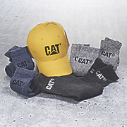 6 pair socks and ball cap set by cat